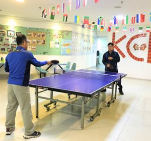 play table tennis